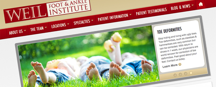 Web Design + SEO : Weil Foot & Ankle Institute